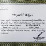 Prof. Dr. Alper Celik Sertifika 5